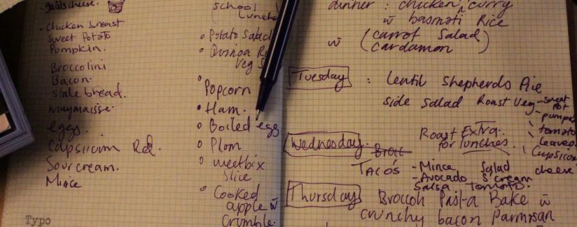 menu planning 101