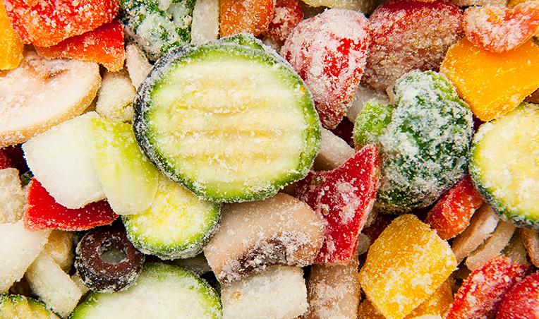 various frozen vegetables